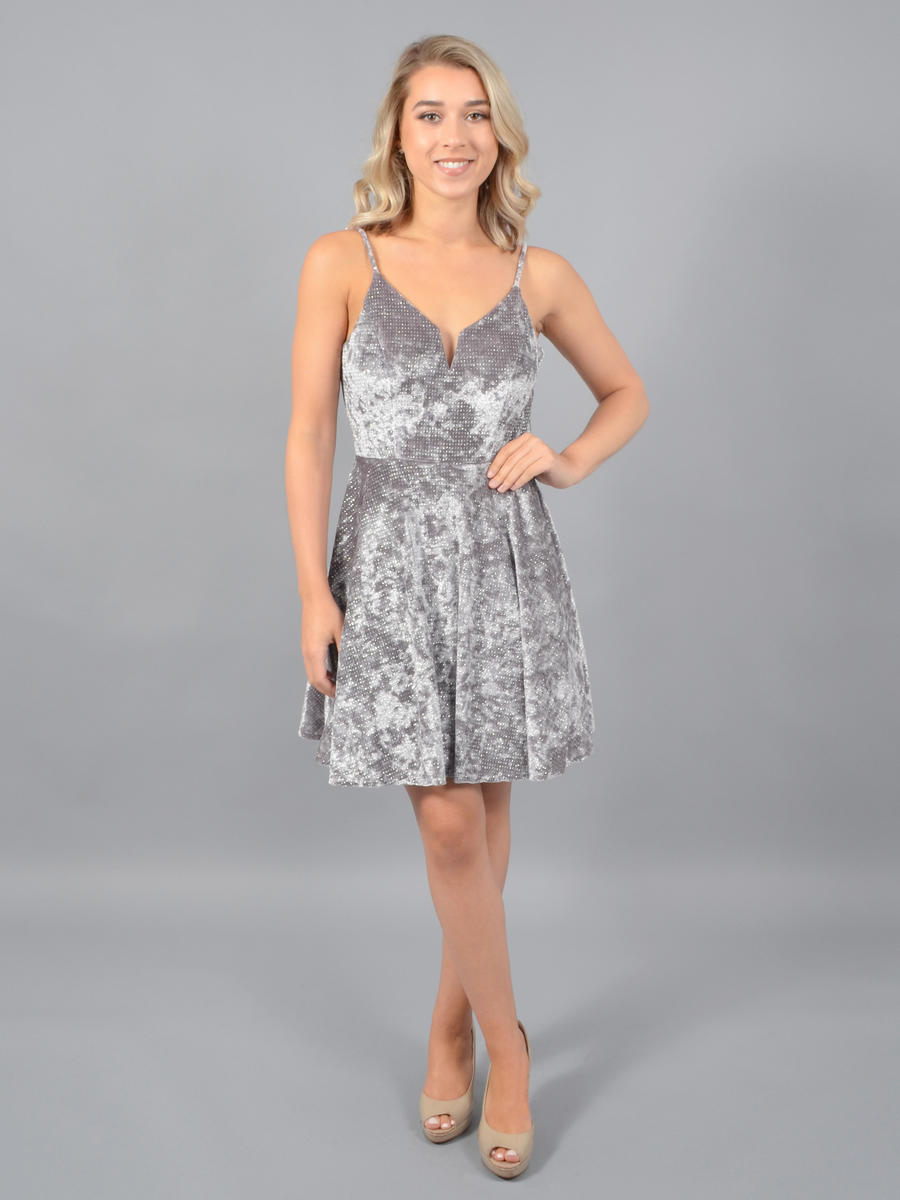 CITY TRIANGLES - Metallic Velvet Dress