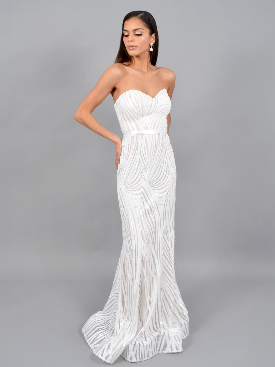 CITY TRIANGLES - Sequin Strapless Gown