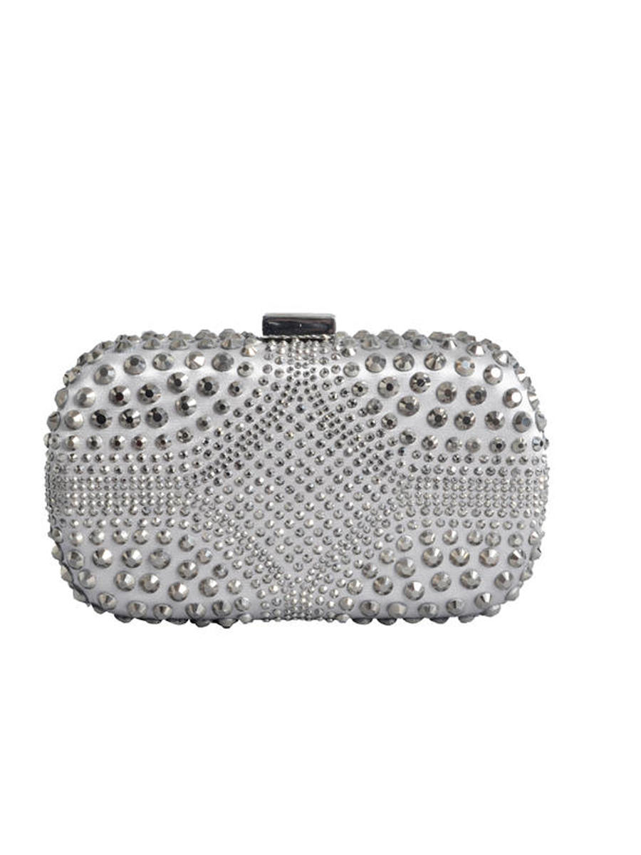 Vincero Ny Inc. - All-Over Rhinestone Hard Case Clutch