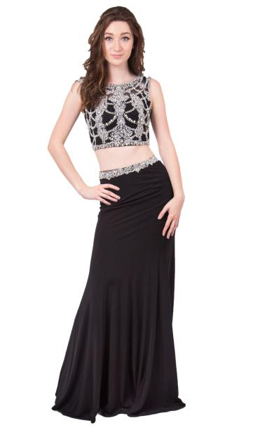 Colette by Mon Cheri - Beaded Two-Piece Jersey Gown