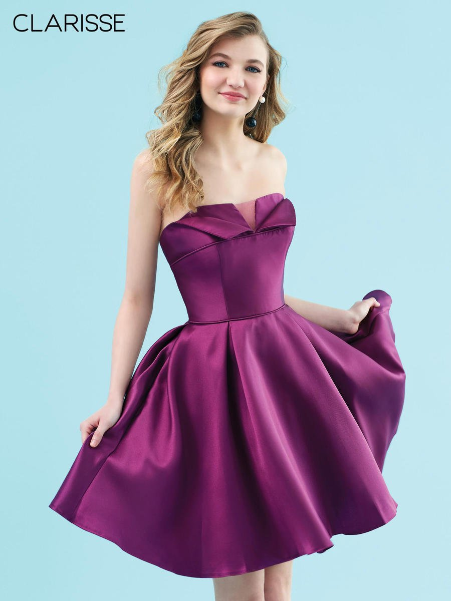 Clarisse - Satin Strapless Dress