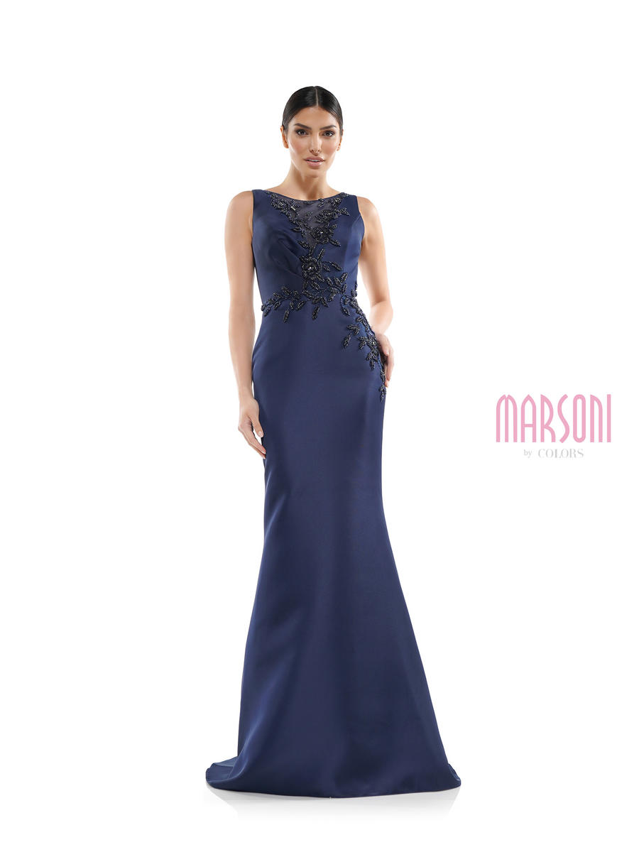 COLORS - Satin Gown Beaded Waist