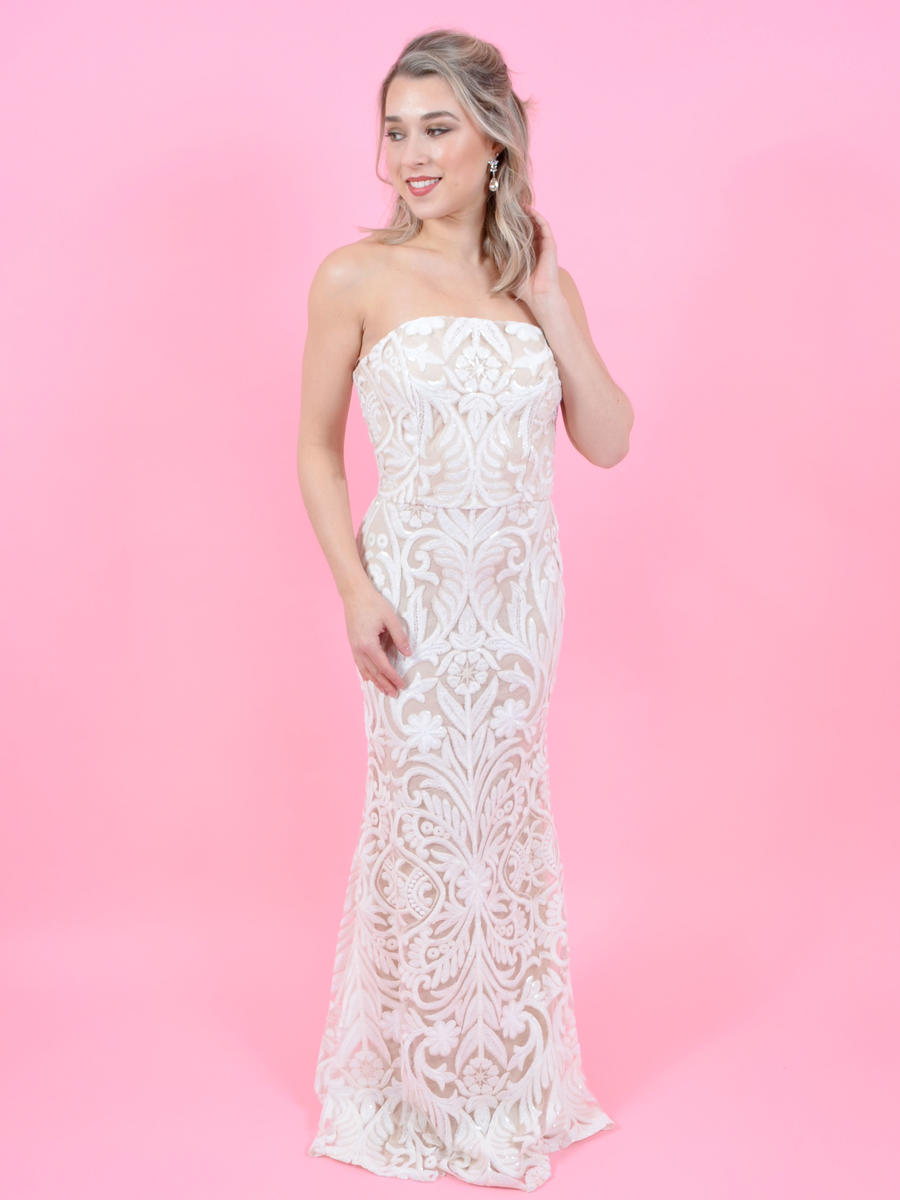 Crystal Doll - Strapless Sequin Gown