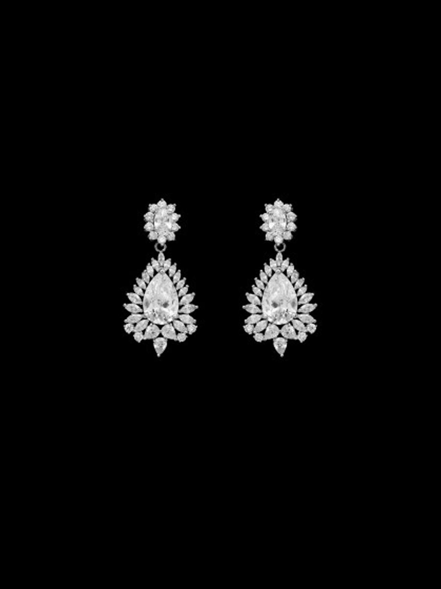 DS BRIDAL    DAE SUNG . - Cubic Zirconia Drop Earring