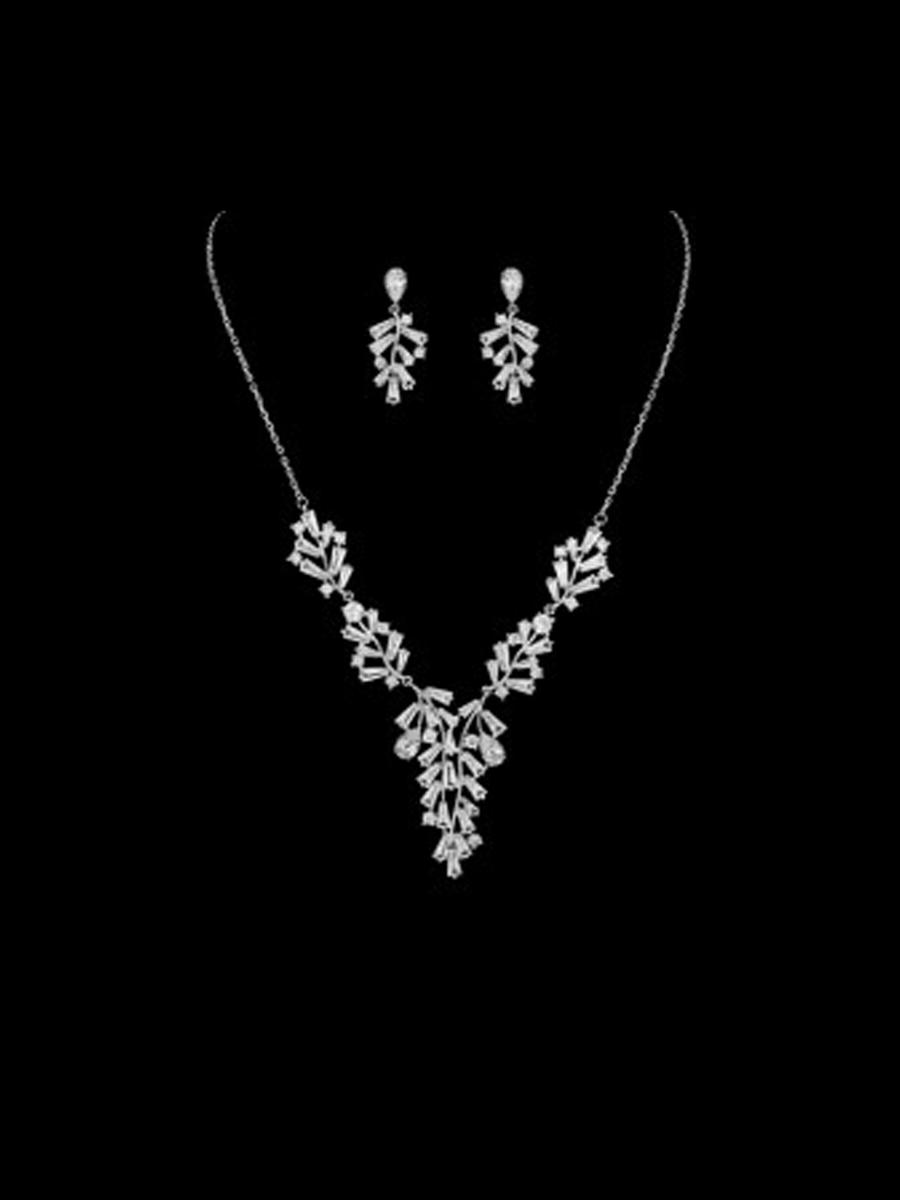 DS BRIDAL    DAE SUNG . - 2PC EARR & NECKLACE N-0886