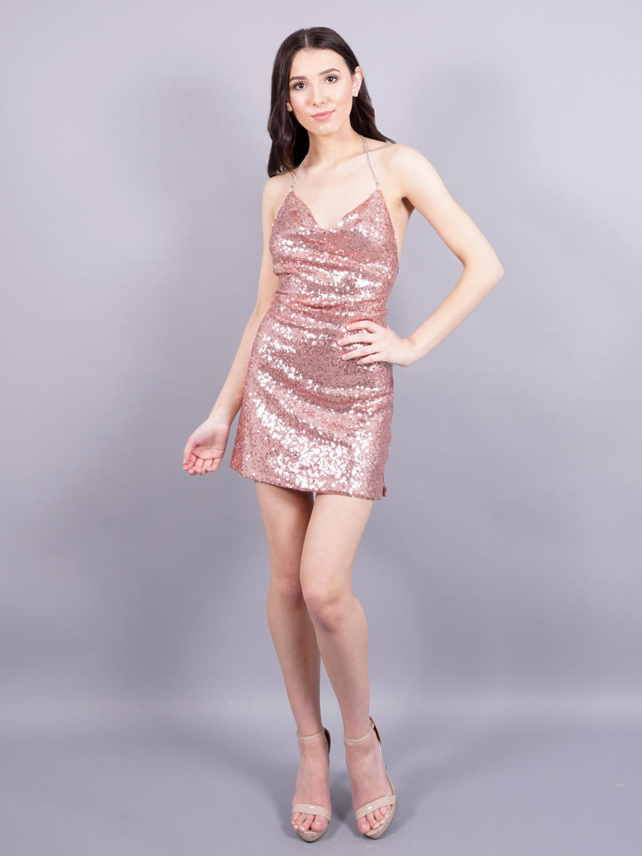 Dance and Marvel - Sequin Halter Dress