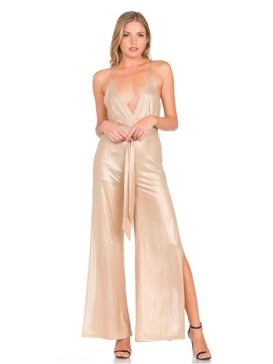 Dance and Marvel - Satin Metallic Jumpsuit