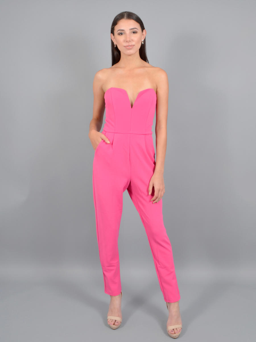 Dance and Marvel - Crepe Jumpsuit Strapless
