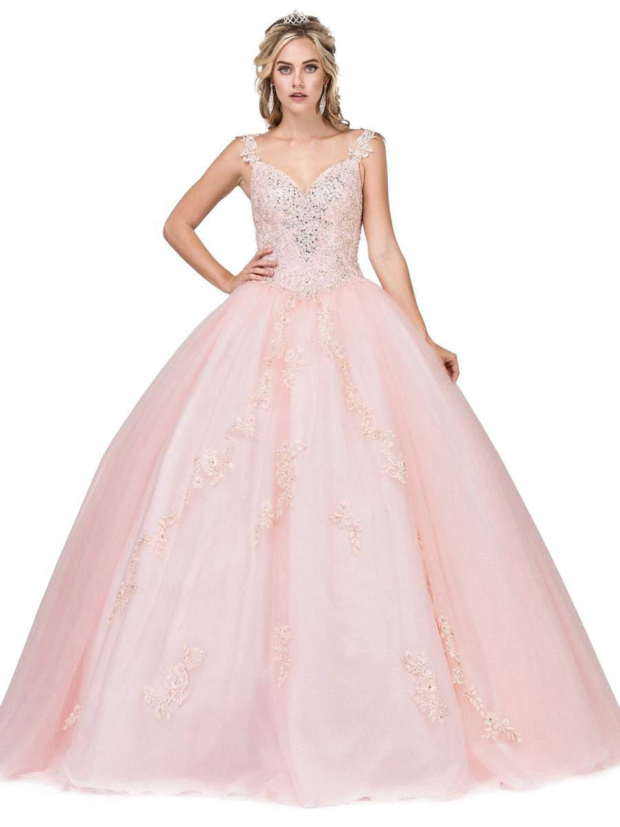 Dancing Queen - Metallic Tulle Ballgown Bead Trim w/Shawl