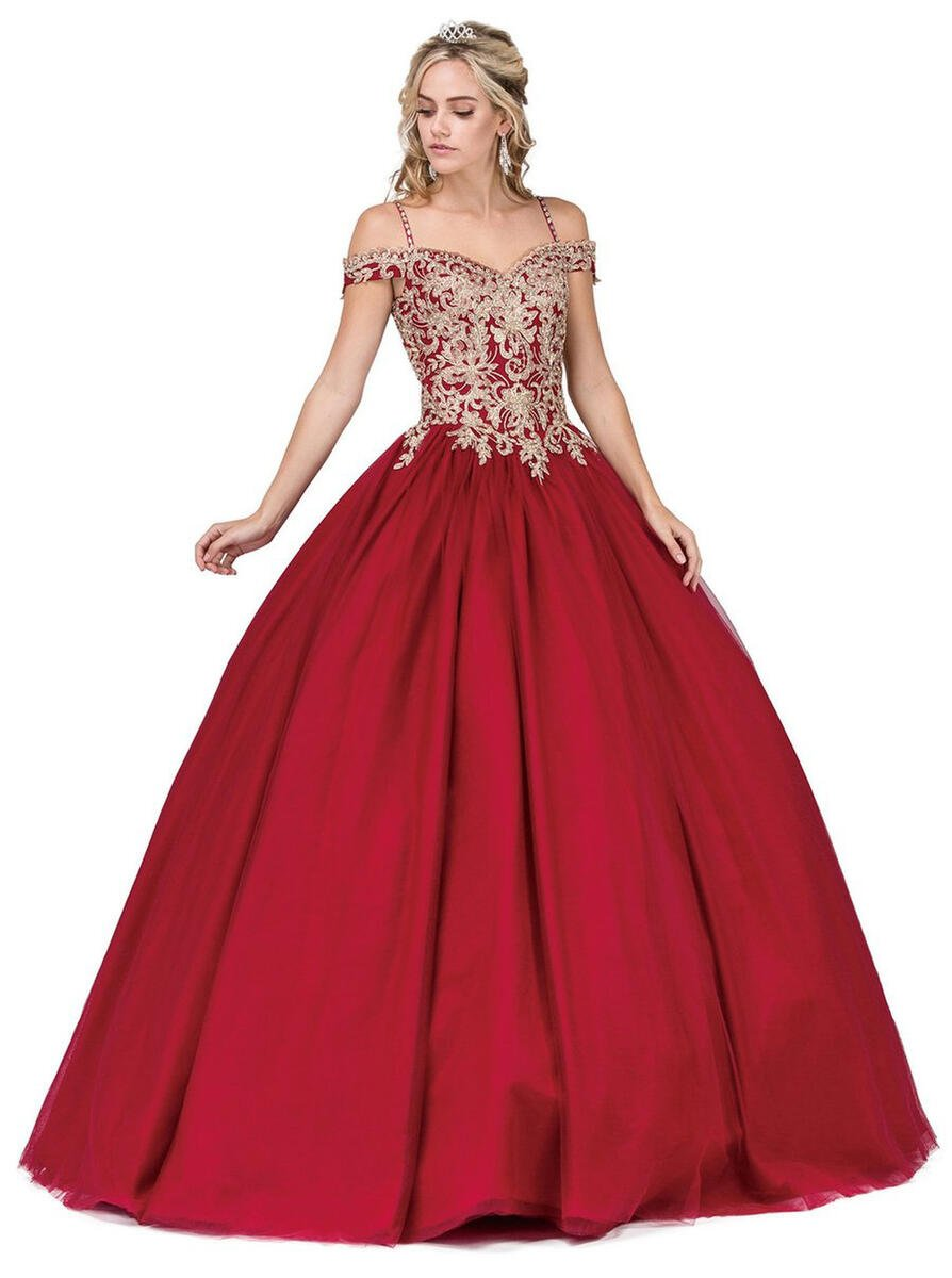 Fashion Eureka - Lace & Chiffon Illusion Gown with Belt