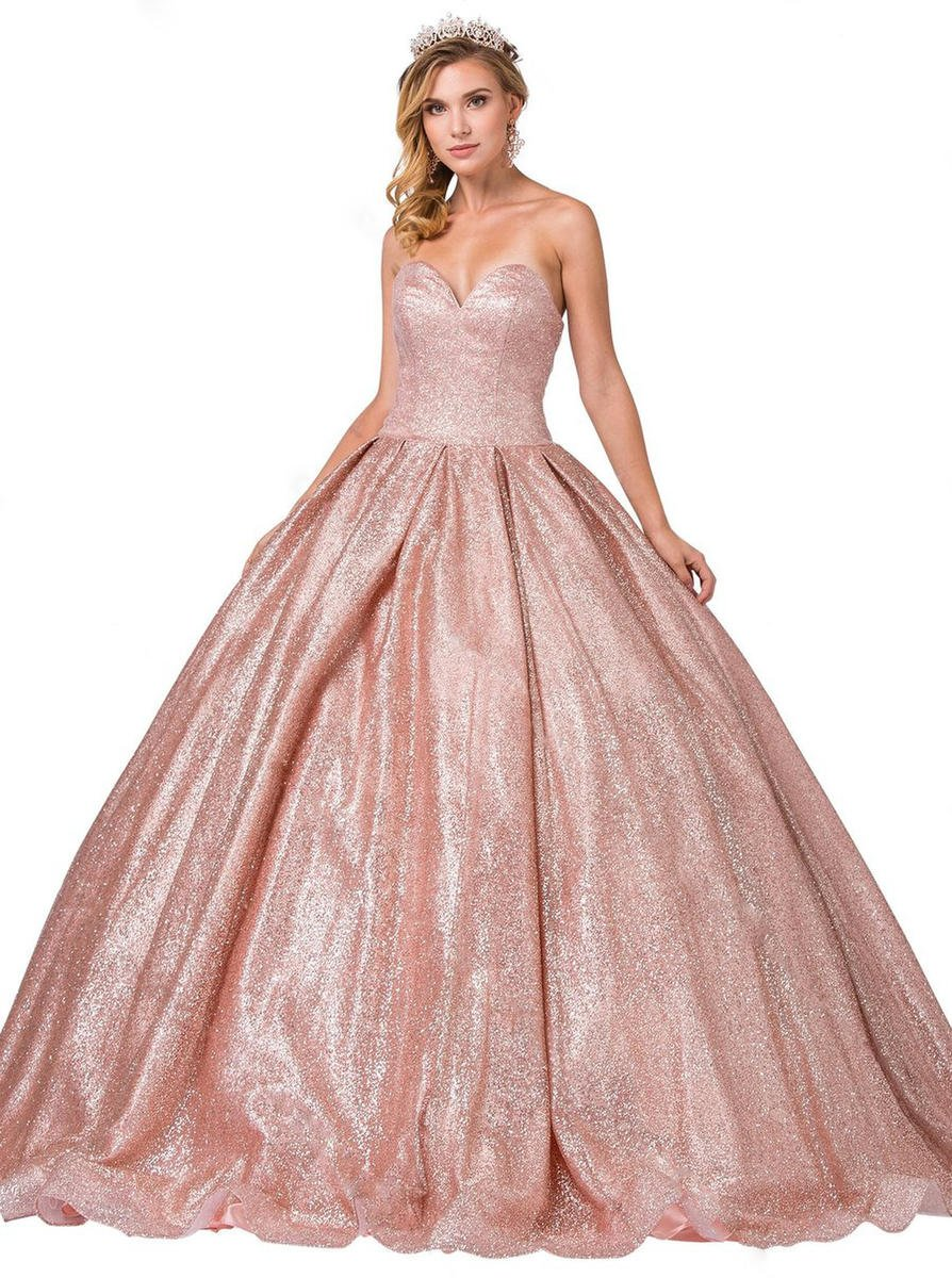Dancing Queen - Metallic Strapless Ball Gown