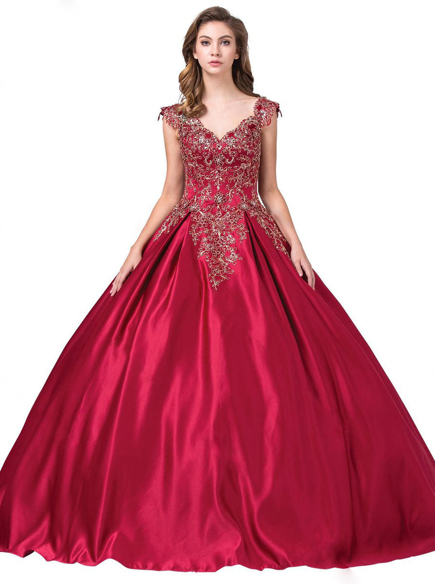 Dancing Queen - Satin Gown-Embroider/Bead Bodice