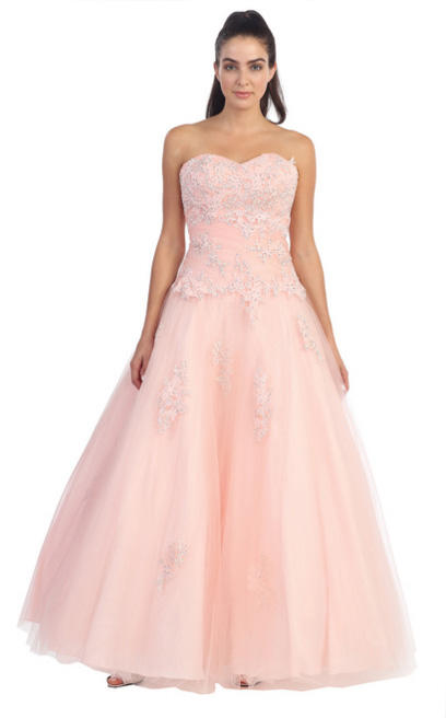 Dancing Queen - Strapless Embellished Tulle A-Line