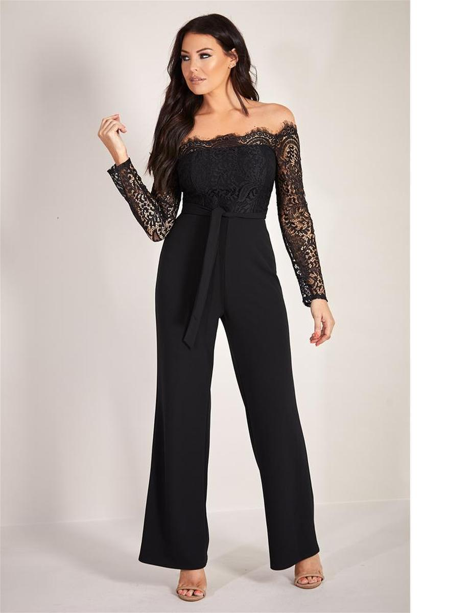 LIPSTICK  LONDON - Jersey Long Sleeve Jumpsuit