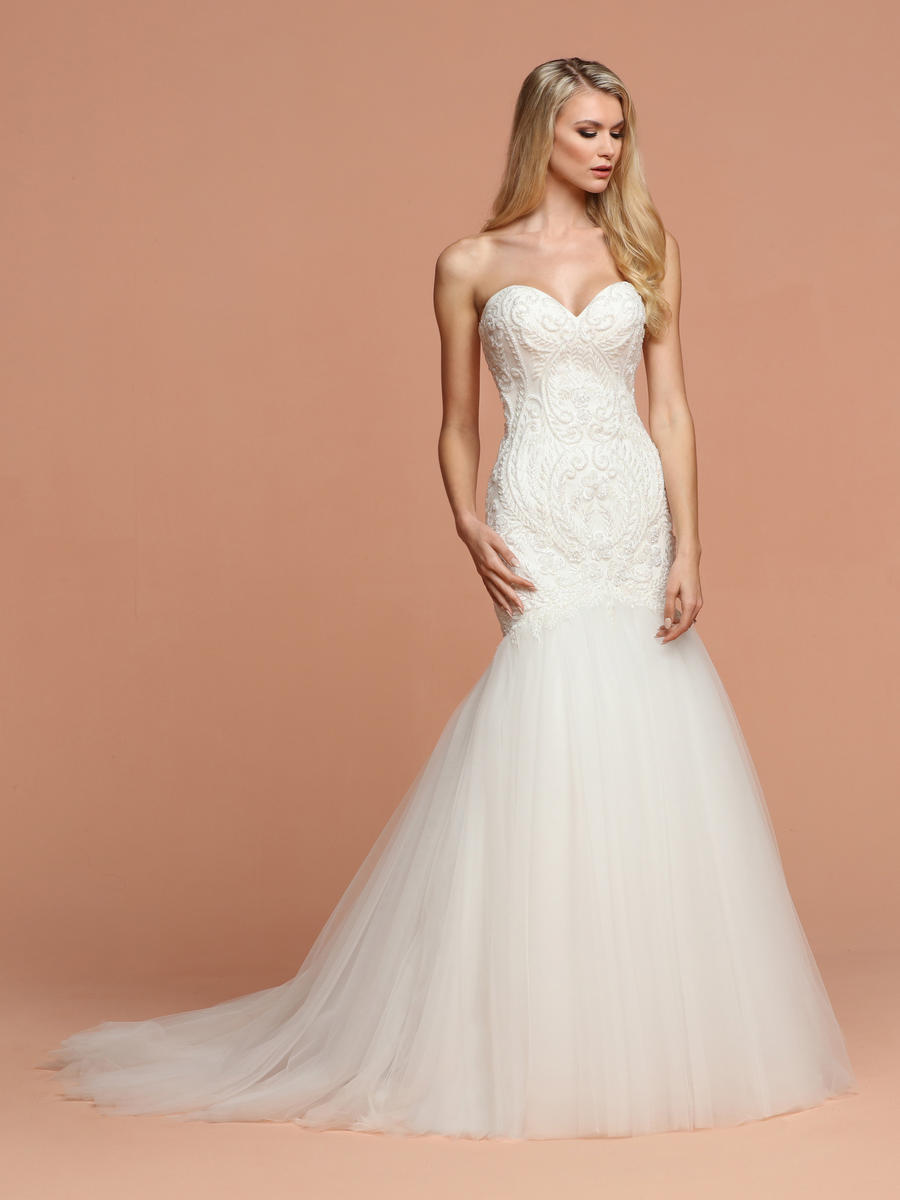 Da Vinci Bridal - Strapless Sweetheart Trumpet Bridal Gown
