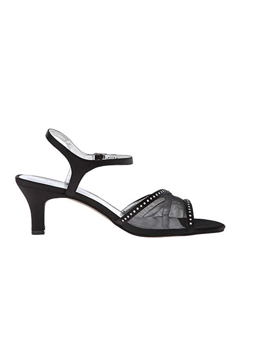 DAVID TATE - Embellished Mesh Low-Heel Sandal