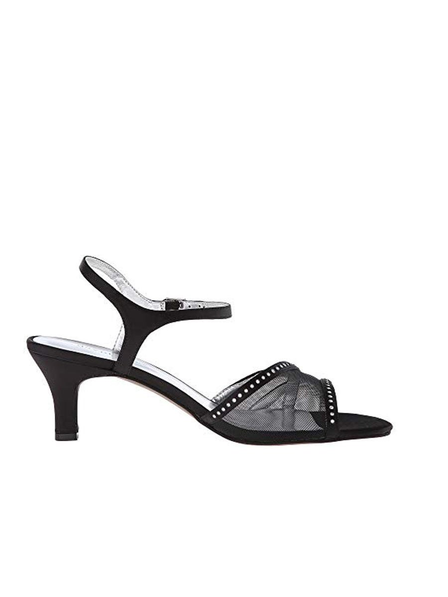 DAVID TATE - Embellished Mesh Low-Heel Sandal VIOLETW