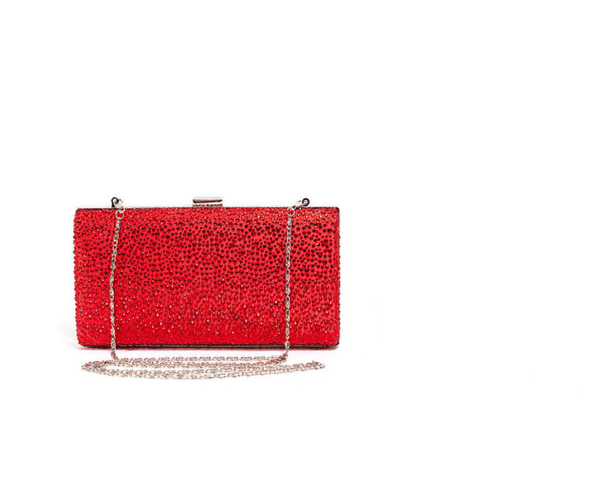 Allover Rhinestone Clutch Bag