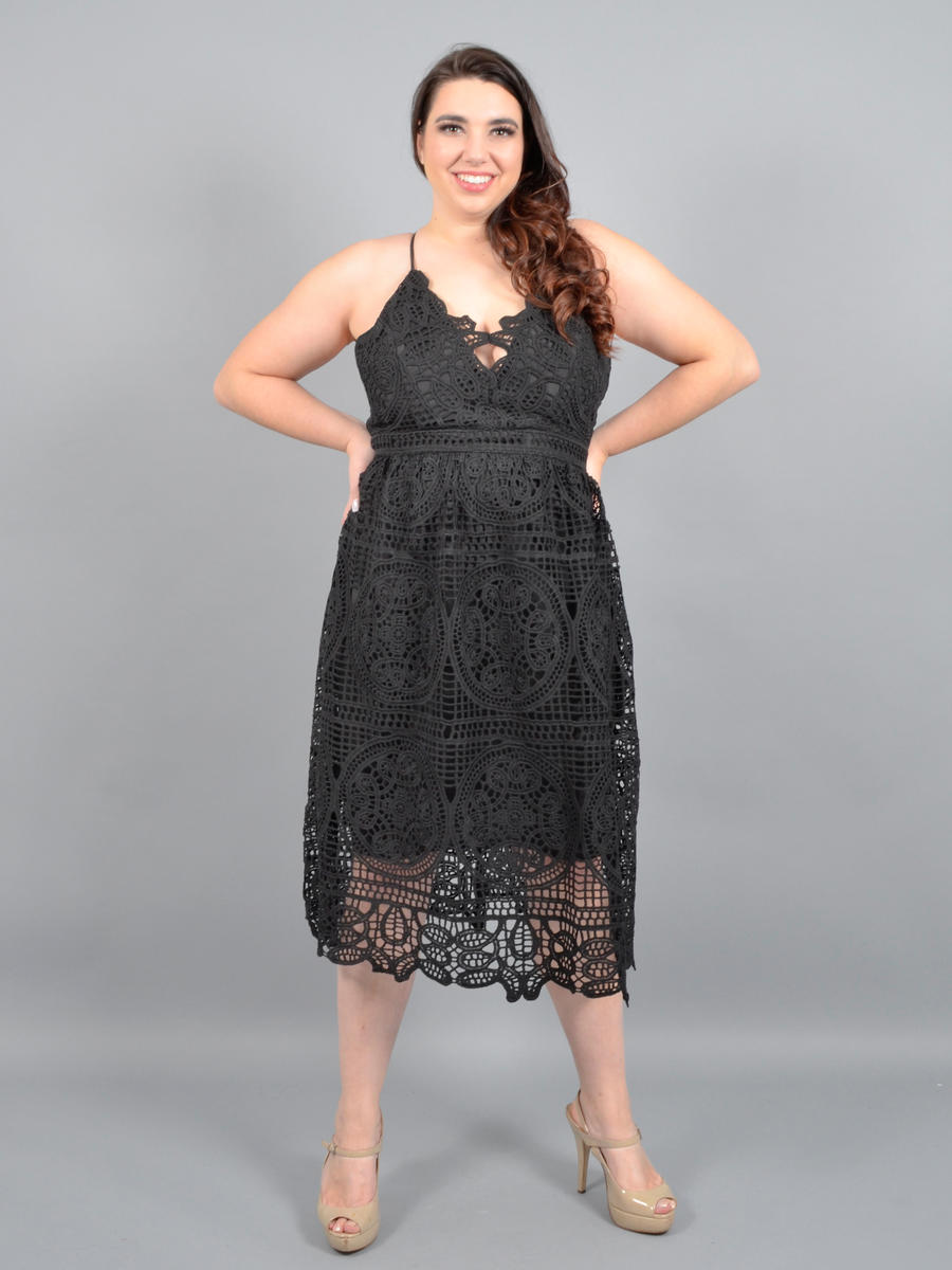 DO + BE - Lace Dress - Crisscross Back