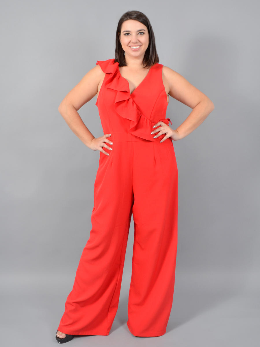 DO + BE - Ruffle Sleeveless Jumpsuit