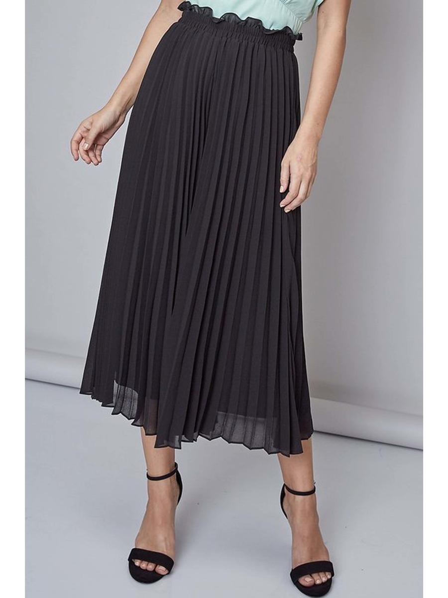 DO + BE - Chiffon Pleated Skirt
