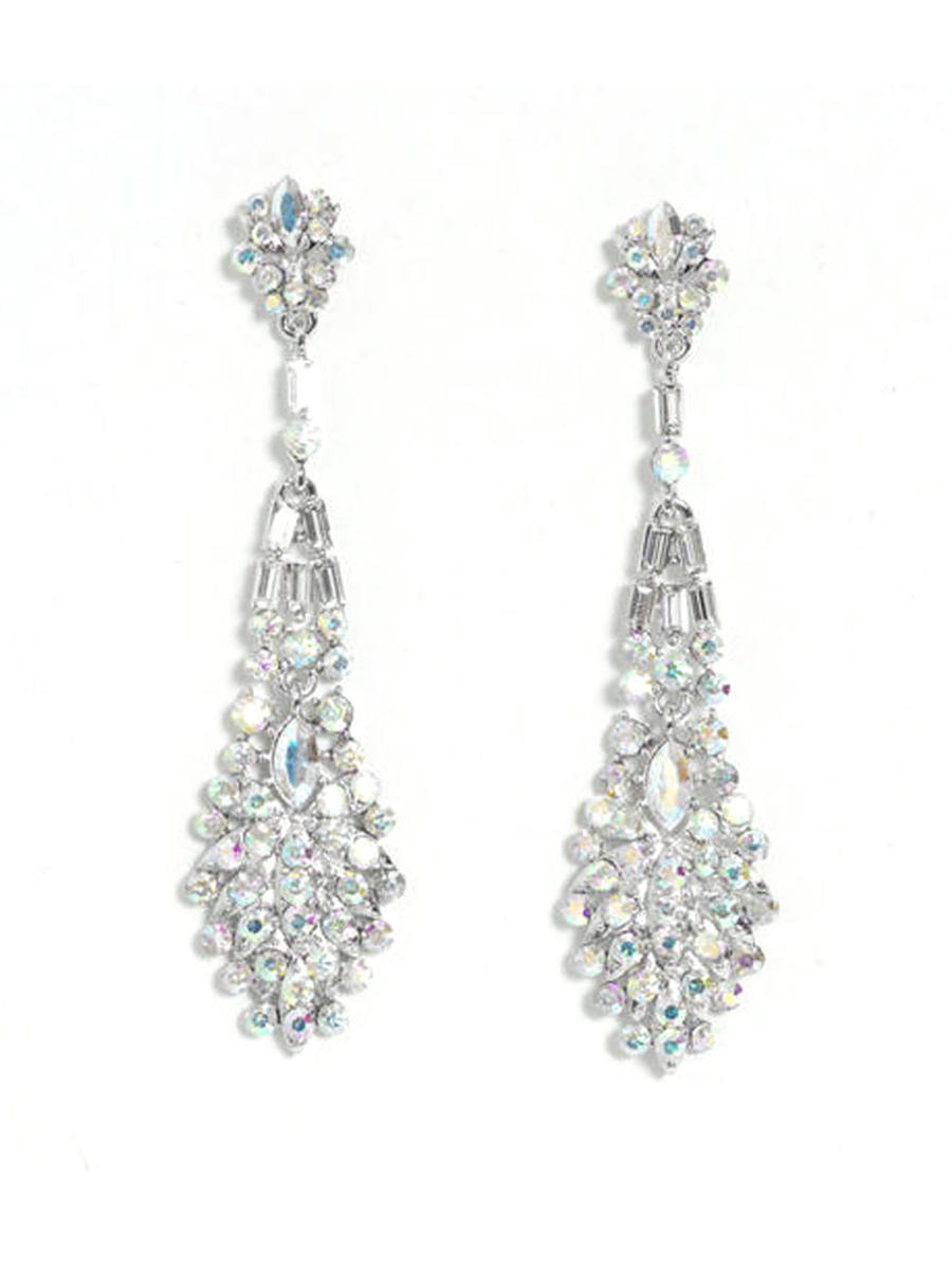 DS BRIDAL    DAE SUNG . - Rhinestone Drop Earrings