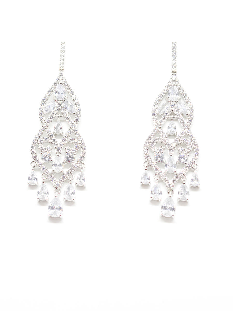 DS BRIDAL    DAE SUNG . - Cubic Zirconia Chandelier Earrings