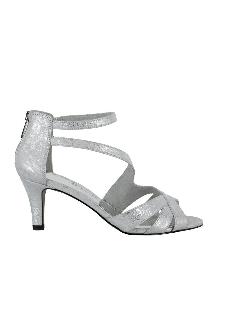 EASY STREET - Low Heel Metallic Ankle Strap