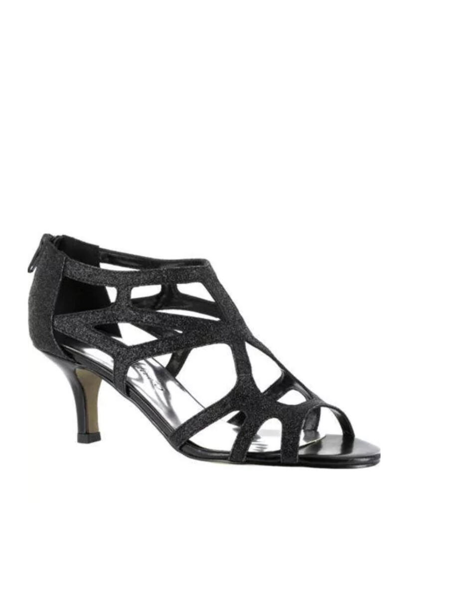 EASY STREET - Caged Glitter Low Heel Pump