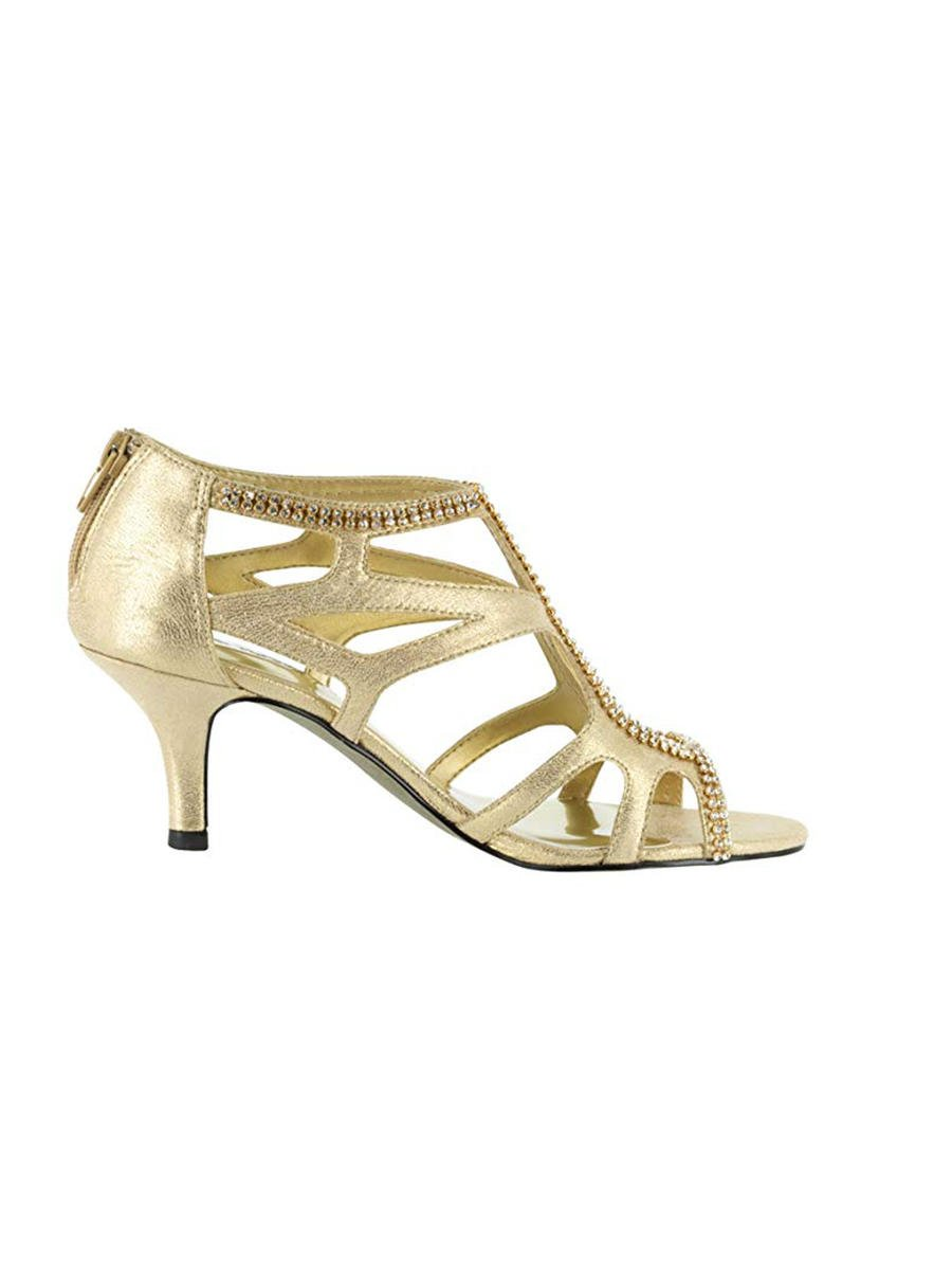 EASY STREET - Embellished Caged Low Heel Sandal