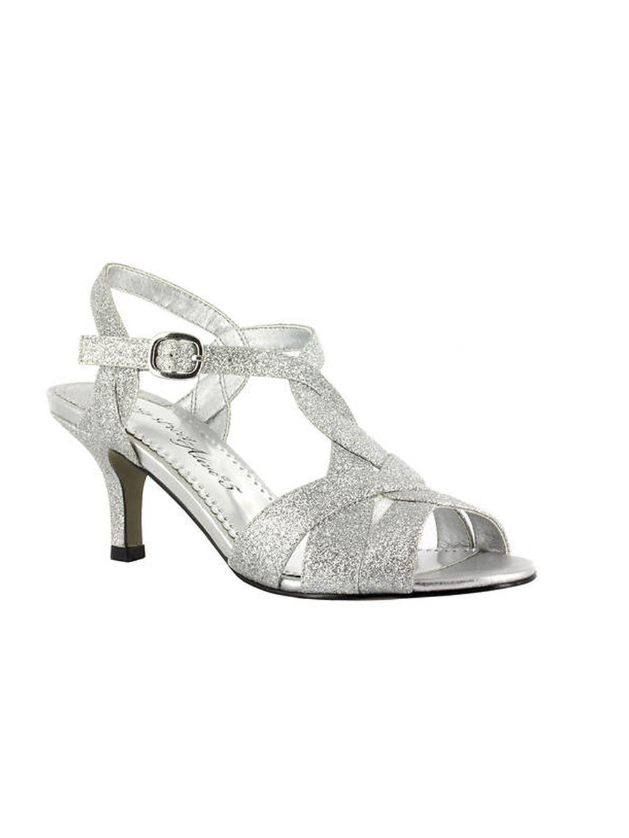 EASY STREET - Braided Glitter Low Heel Sandal