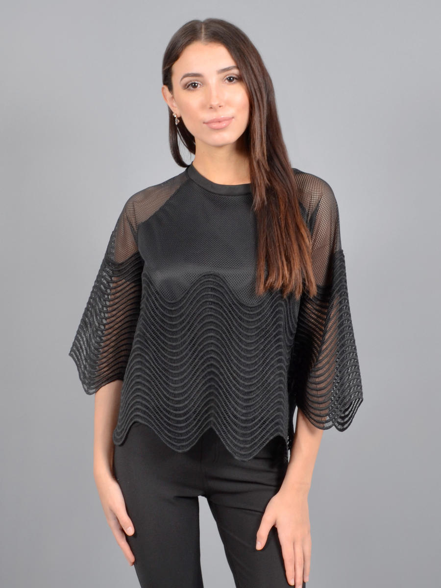 Esmaralda - Mesh Stripe Top Long Sleeve 1913