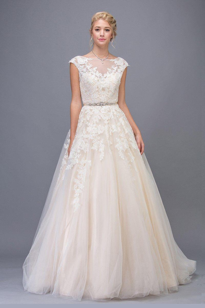 Fashion Eureka - BELTED A-LINE WEDDING GOWN