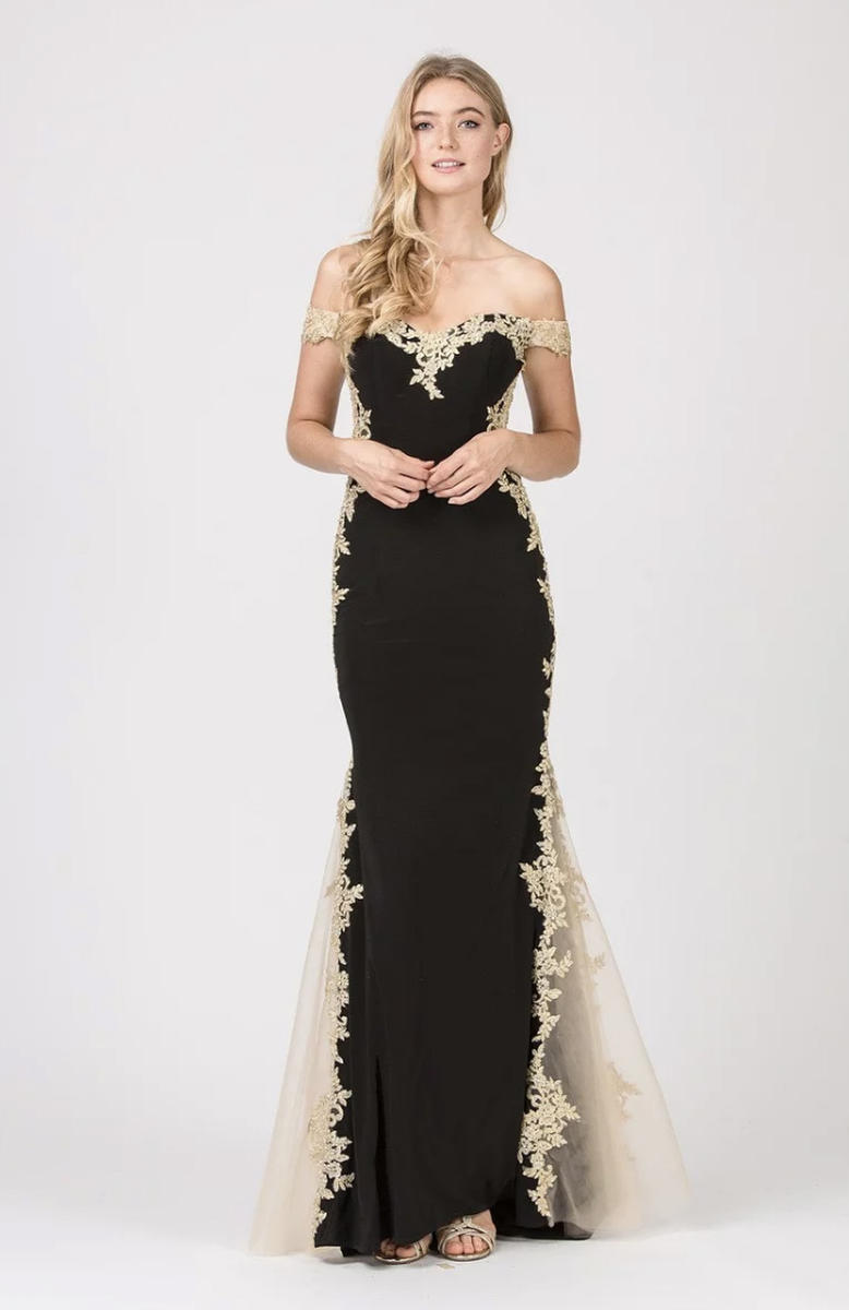 Fashion Eureka - Off the Shoulder Embroidered Jersey Gown
