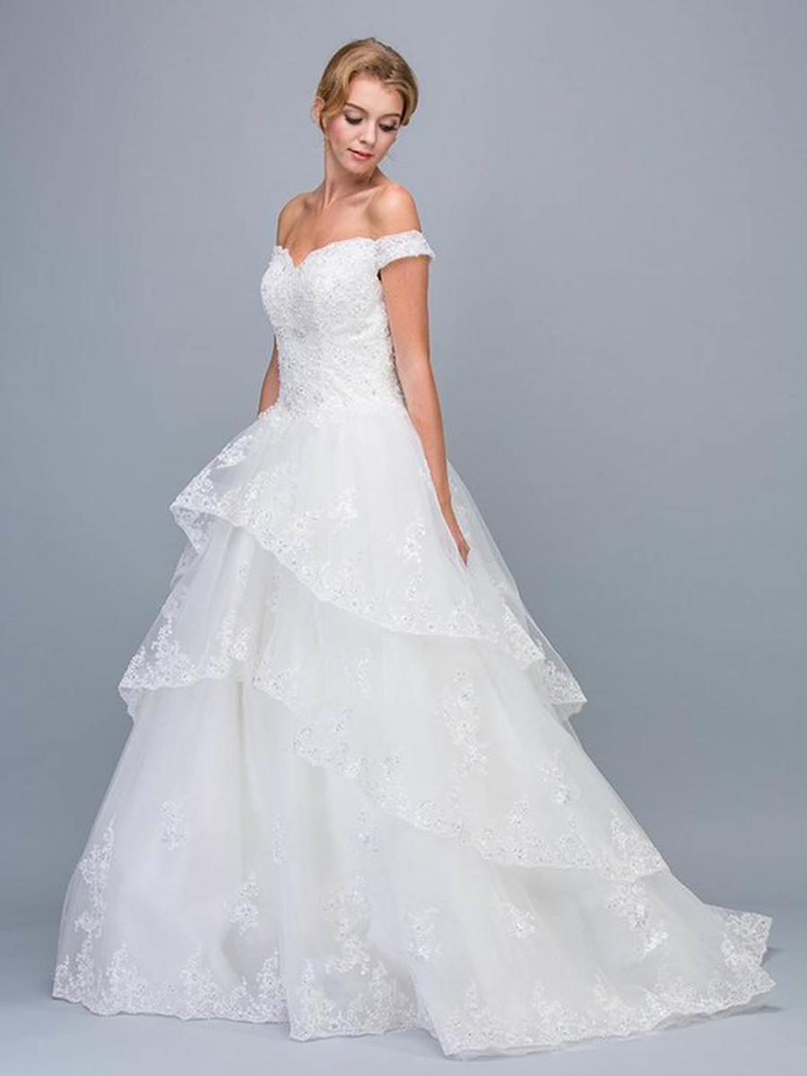 Fashion Eureka - Tulle Lace Gown Beaded Bodice