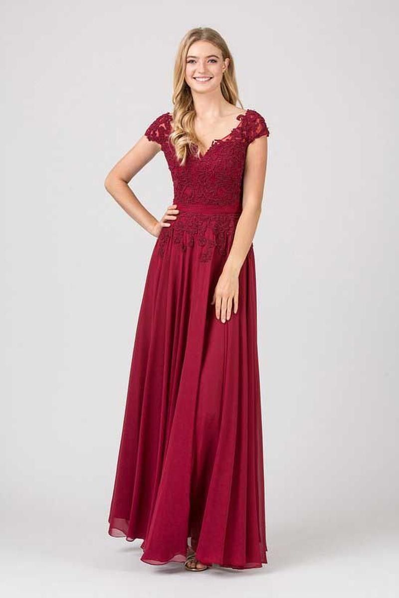 Fashion Eureka - Jersey Lace Beaded Bodice Gown
