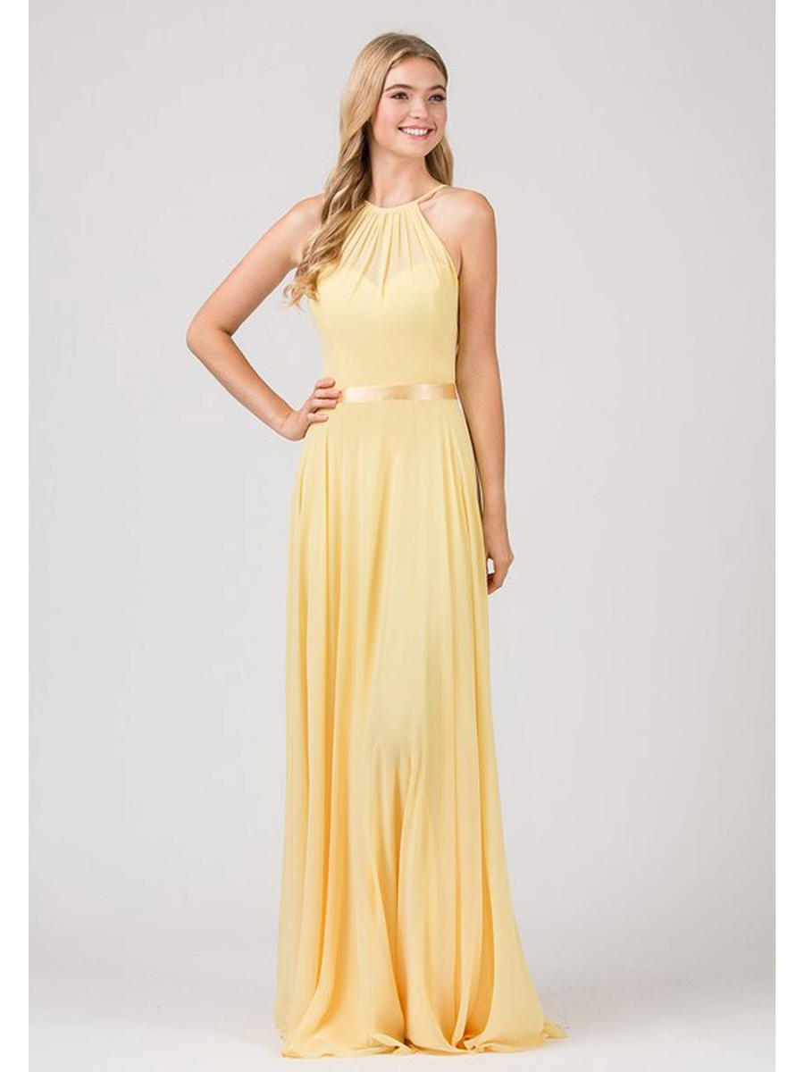 Fashion Eureka - Chiffon Gown-Shawl