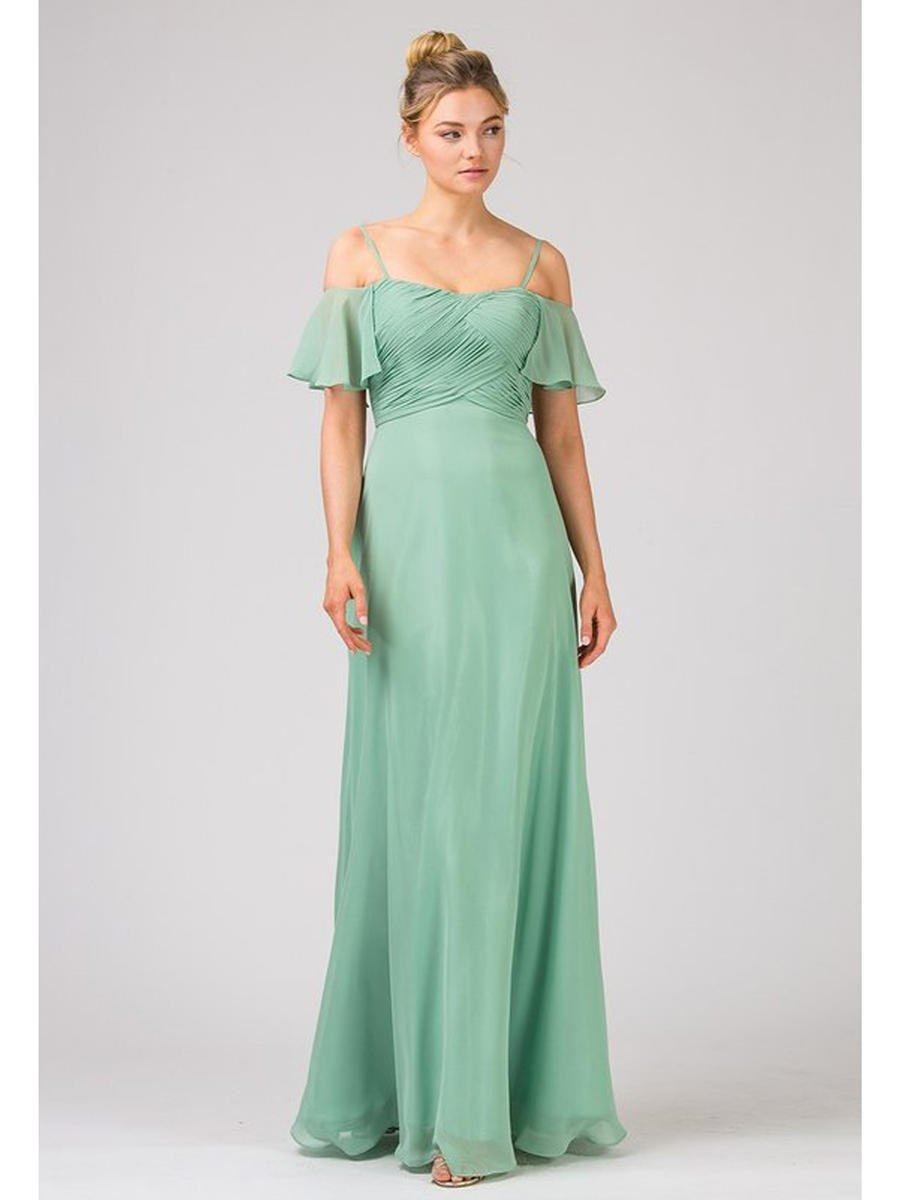 Fashion Eureka - Chiffon Gown Off Shoulder