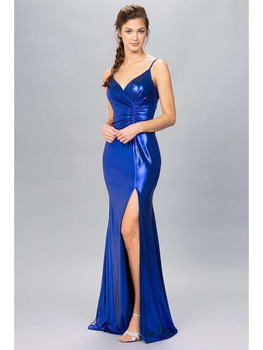 Fashion Eureka - Satin Gown Wrap Waist