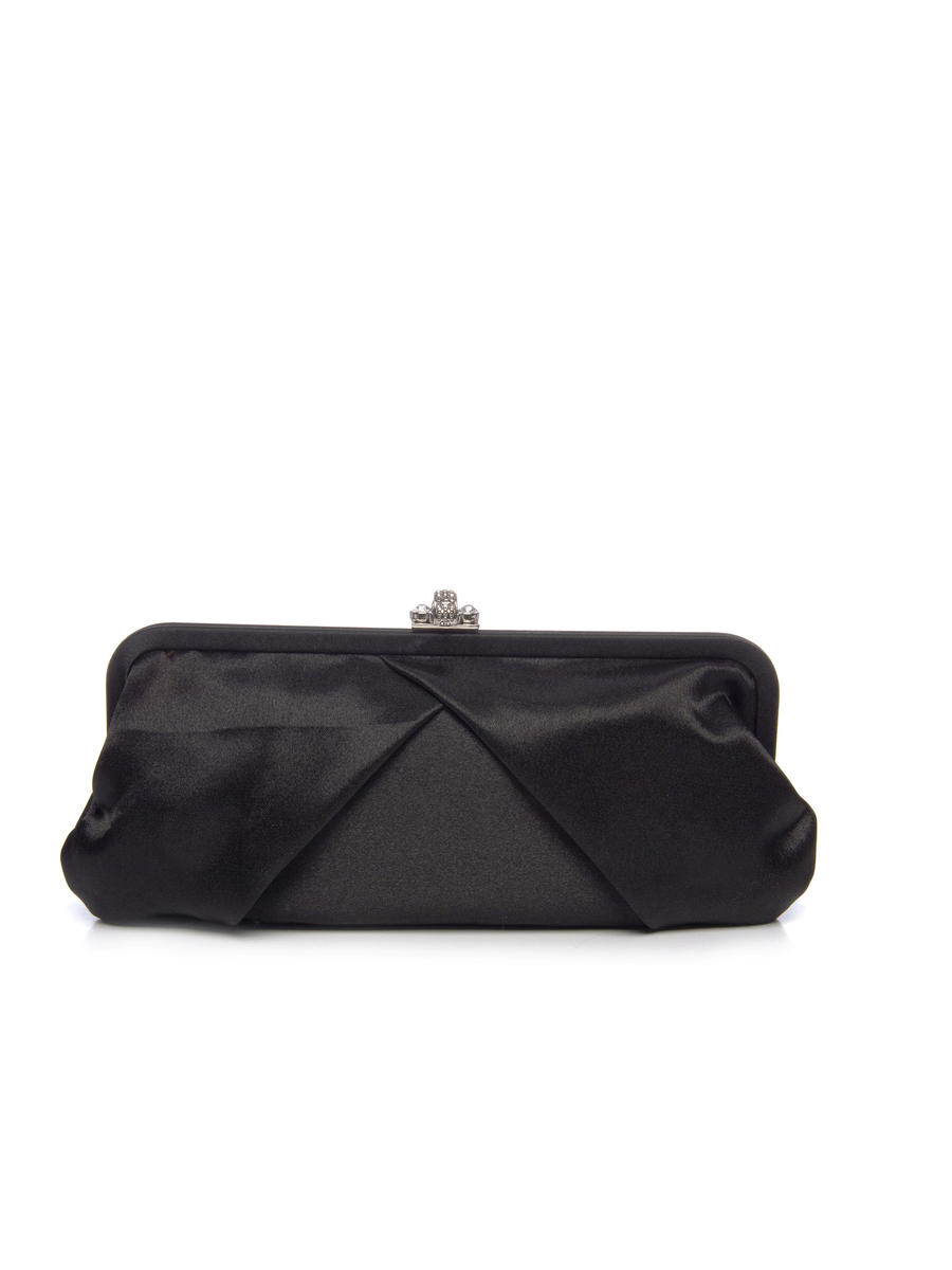 Soft Pleated Satin Clutch Bag