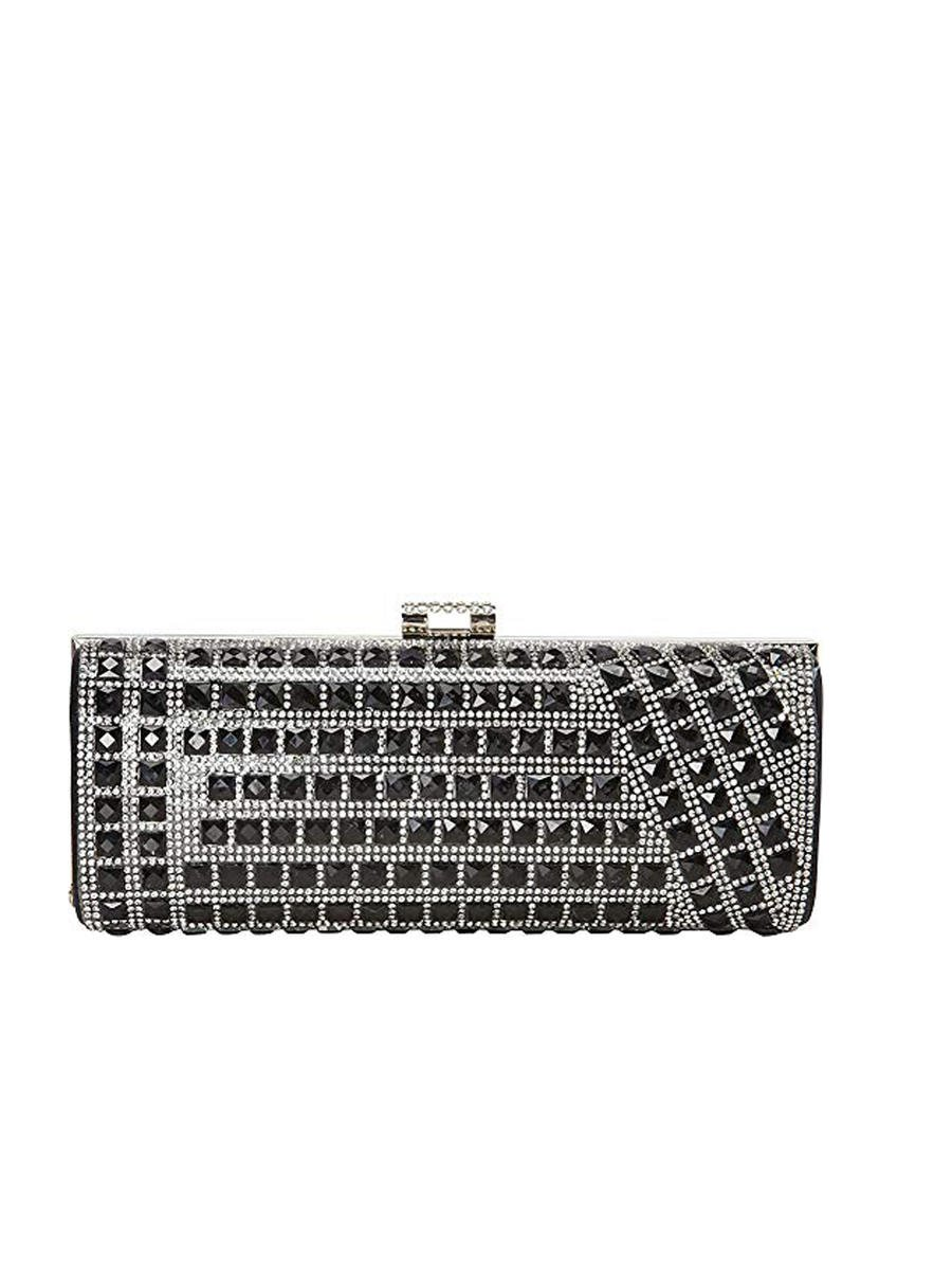 Rhinestone Hard Case Clutch