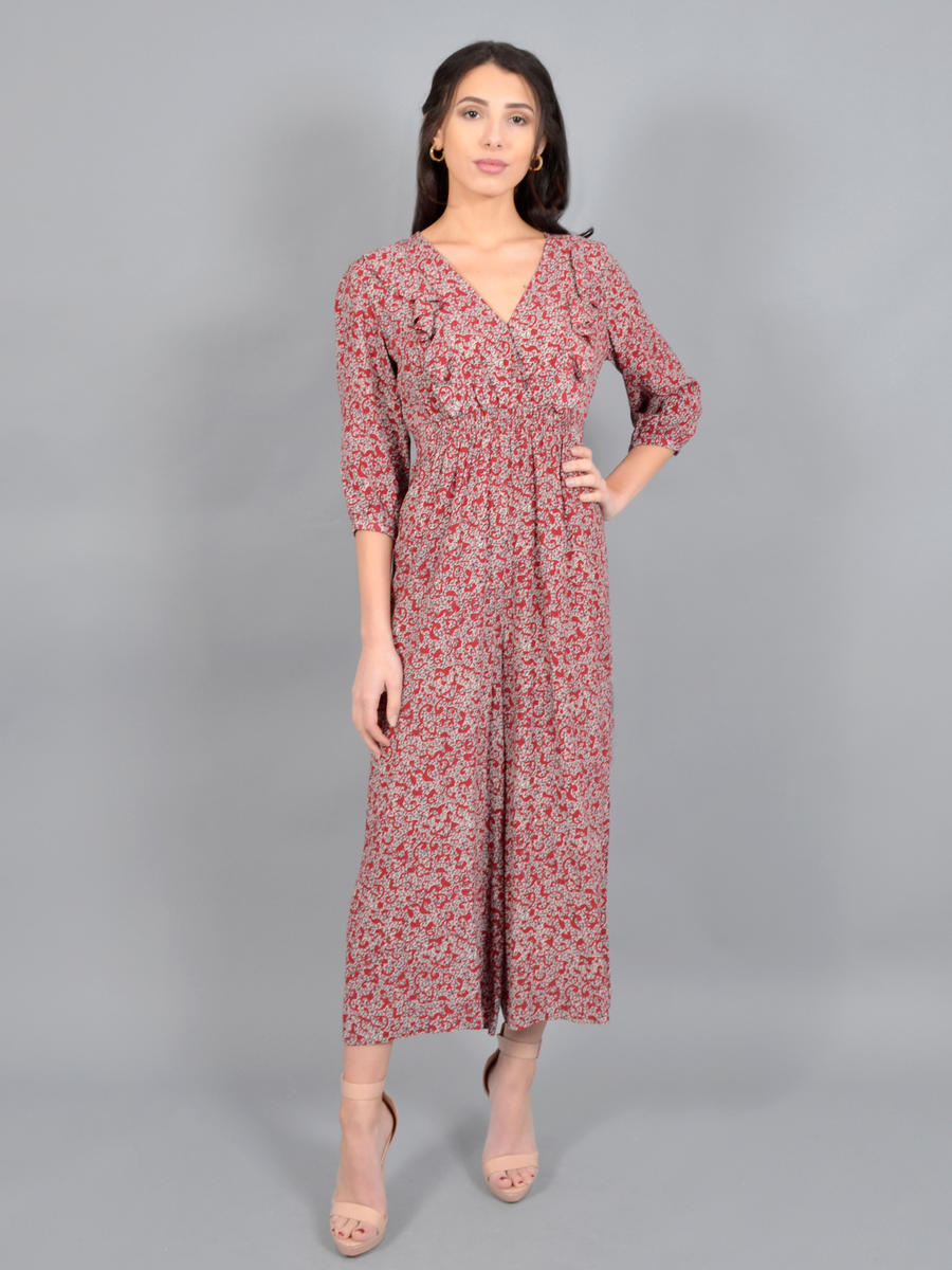 Gary - Print Jump Suit Long Sleeve