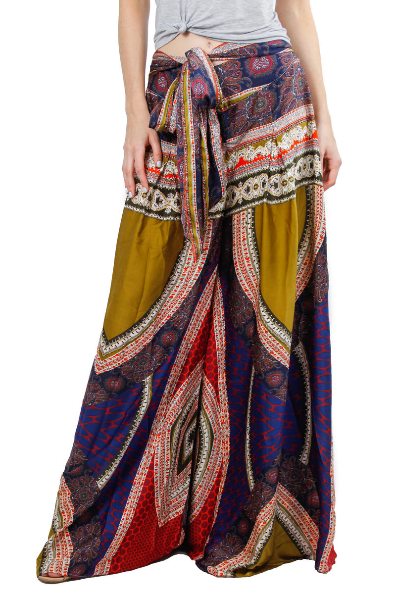 GRACIA FASHION LADIES APPAREL - Print Palazzo Pant P20600
