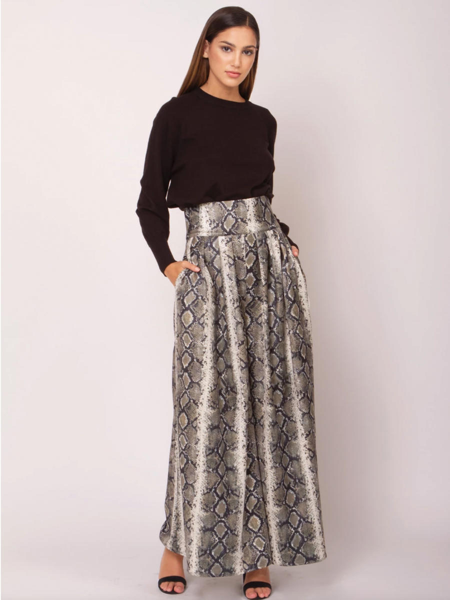 GRACIA FASHION LADIES APPAREL - Satin Print Palazzo Pant