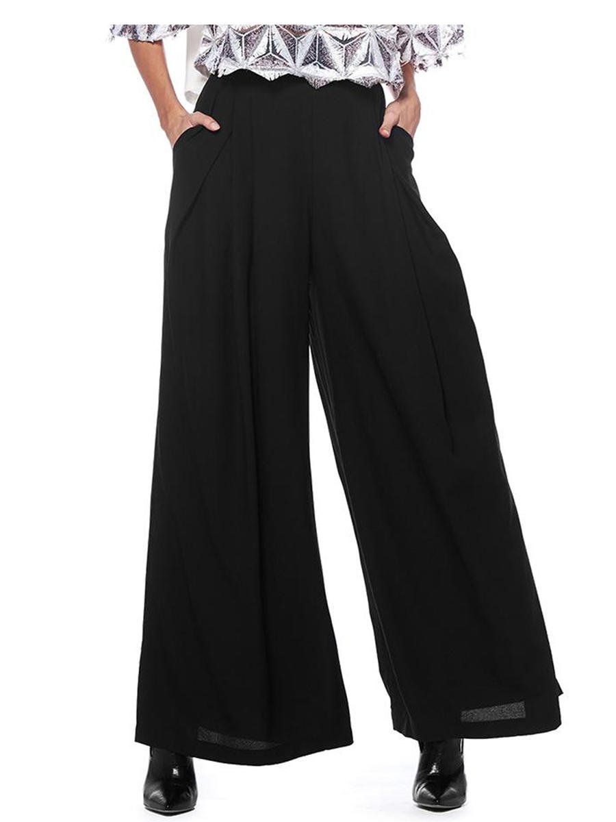 GRACIA FASHION LADIES APPAREL - Wide Leg Pant T14721