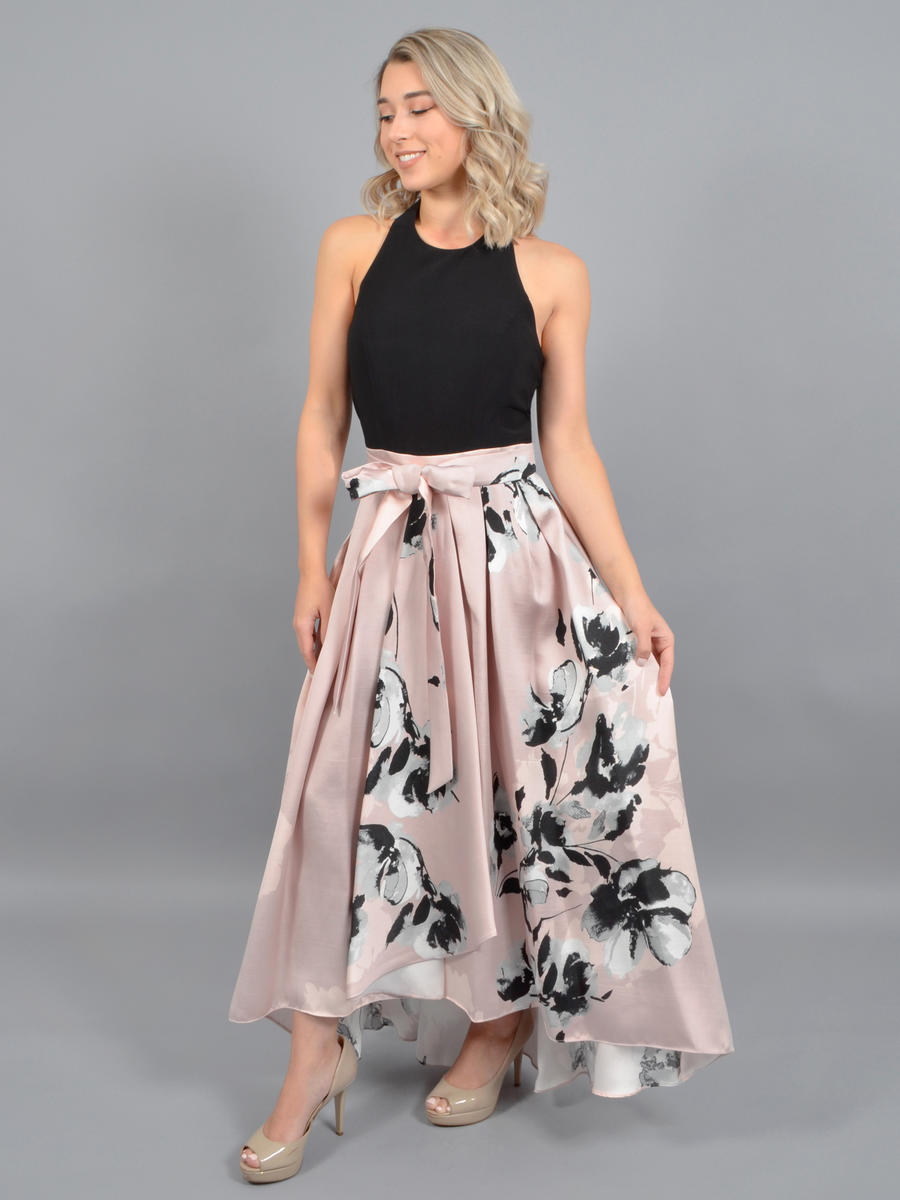 IGNITE EVENINGS - Satin High Low Print Gown