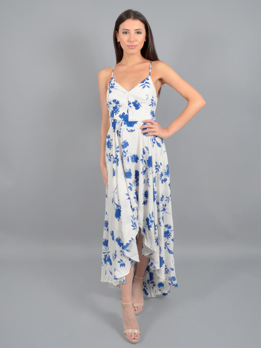 INA FASHION - Chiffon Print High Low Gown IDD75277