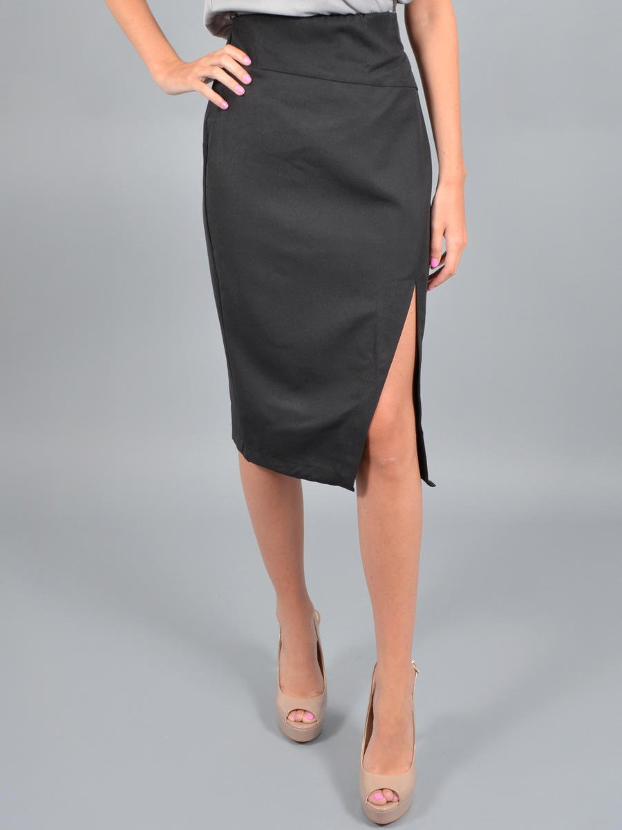 INA FASHION - SATIN SKIRT ISA40050