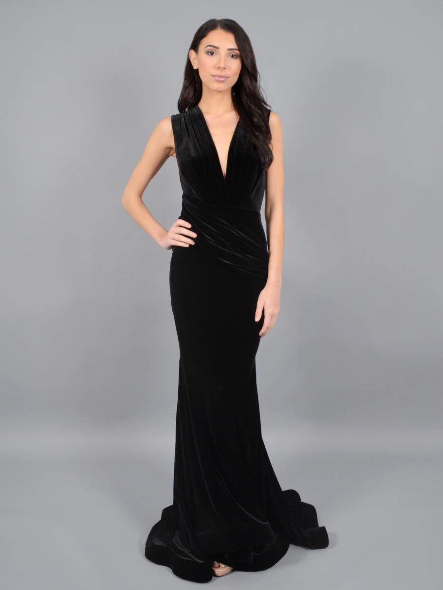 ISSUE (REGINE) - Velvet Gown Wrap Waist