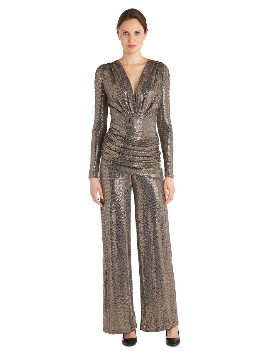 ISSUE (REGINE) - Long Sleeve Metallic Jumpsuit